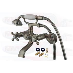 Kingston Brass Clawfoot Tub Faucet Satin Nickel KS265SN