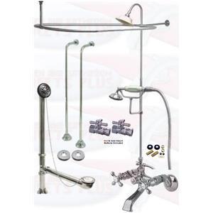 Kingston Brass Cck265c 2 Polished Chrome Clawfoot Tub Faucet Kit