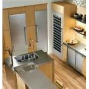 """Thermador T24ID800LP 24"""" Built-in Fully Flush Freezer Column Panel Ready Detail"""