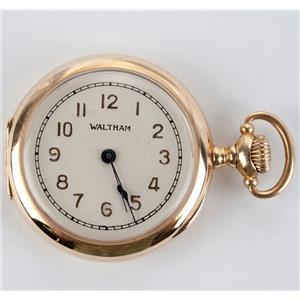 Antique Vintage Waltham Ladies Pocket Watch Circa 1906 W/ 14k Yellow Gold Case
