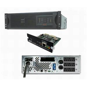 APC SUA3000RMXL3U SMART-UPS 3000VA 2700W 120V 3U Rackmount Power Backup AP9617