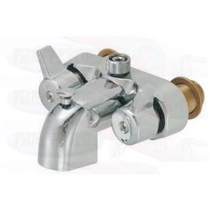 Chrome Clawfoot Tub Add-A-Shower Bathcock Diverter Faucet