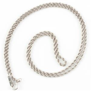 "Traditional Platinum Rope Chain 16"" Length 1.6mm Width 5.9g"