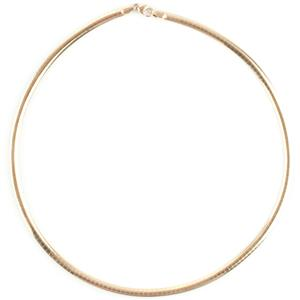 """Classic Traditional 14k Yellow Gold Italian Omega Chain / Necklace 16.5"""" Length"""