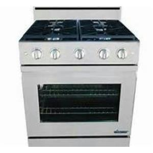 "Dacor DR30GFSNG 30"" Freestanding Gas Range Stainless Steel Detailed Images"