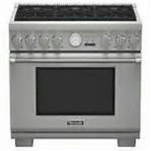 "Thermador  Pro Grand 36"" 6 Burner Pro-Style Gas Range Stainless PRG366JG Images"