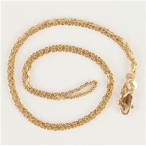 "Classic 14k Yellow Gold Link Chain Necklace 16"" Length"