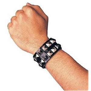 Double Studded Punk Goth Wristband Costume Accessory