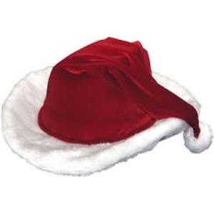 Country Christmas Xmas Santa Ladies Cowboy Cowgirl Hat