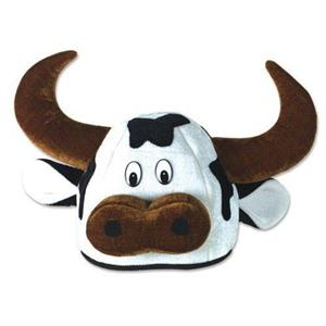 Soft and Cuddly Cow Head Hat Moo
