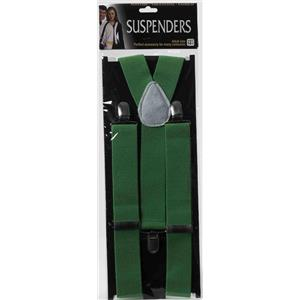 Men's Adult Green Suspenders Costume Accessory