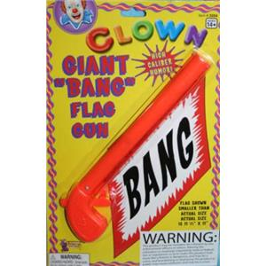Giant Bang! Gun With Flag Novelty Prank Clown Gag Gift