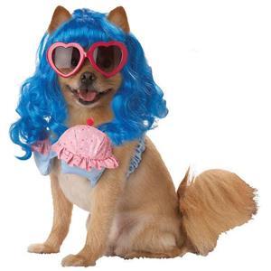 California Girl Pet Costume Size Medium