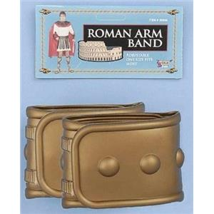 Gold Plastic Adjustable Roman Armbands Costume Accessory