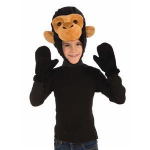 Monkey Hood and Gloves Child Costume Kit