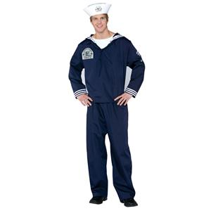 Navy Sailor Seaman Military Soldier Uniform Adult Costume With Hat