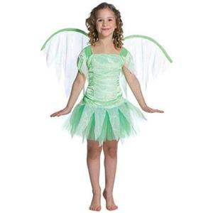 Lime Green Fantasy Fairy Teen Costume with Wings