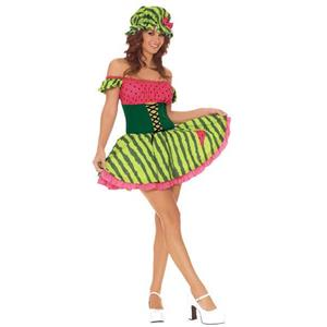 Watermelon Girl Sexy Adult Costume XSmall (2-6) Summer Fruit