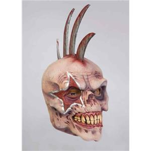 Razor Rocker Skull with Mohawk Adult Mask