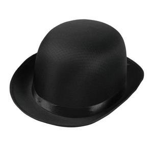 Black Satin Adult Derby Costume Hat