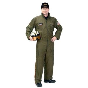 Aeromax Great Quality Armed Forces Pilot Adult Costume Large