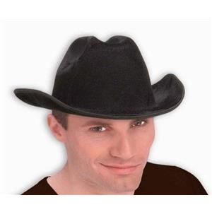 Black Felt Adult Cowboy Hat Costume Accessory