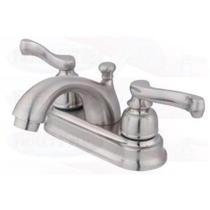 "Kingston Brass KB5608FL Victorian 4"" Centerset Bathroom Sink Faucet - Satin Nickel"