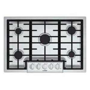 "Bosch 800 Serie 30"" Low Profile Cast Iron 5 Sealed Burners Gas Cooktop NGM8055UC"