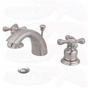 Kingston Bathroom Sink Faucet Satin Nickel KB958AX