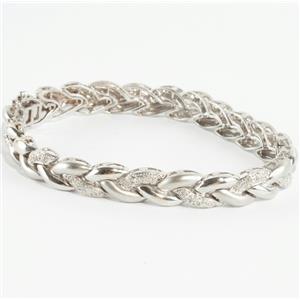 Ladies Beautiful 14k White gold Round Cut Diamond Tennis Bracelet 1.75ctw
