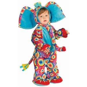 Party Animals Psychedelic Elephant Infant Tie Dye Baby Costume