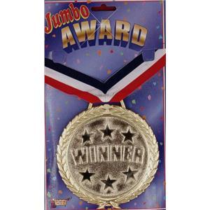 Jumbo Winner Medal Award Necklace Medallion