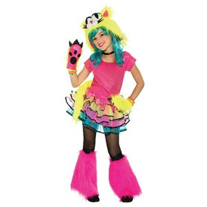 Party Cat Girls Tutu Monster Child Costume Size Large 12-14