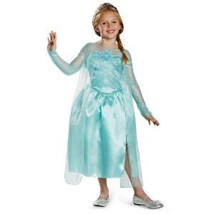 Frozen Elsa Snow Queen Gown Classic Girls Costume Size Medium 7-8