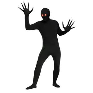 Fade Eye Shadow Demon Black Skin Suit Adult Costume