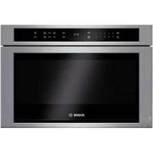 "Bosch 800 Serie 24"" Built-in Microwave Drawer HMD8451UC Glass Touch Controls SS"