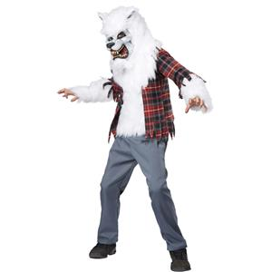White Werewolf Child Costume Size Large 10-12
