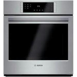 "Bosch 27"" 4.1 cu. ft Eco Clean Convection Single Electric Wall Oven HBN8451UC SS"