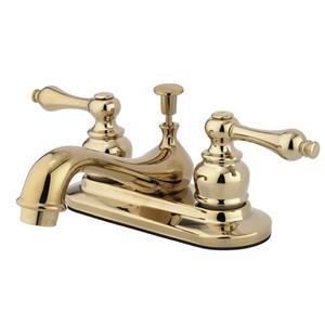 "Kingston Brass KB602AL Restoration 4"" Centerset Bathroom Sink Faucet - Polished Brass"