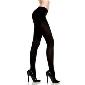 Black Opaque Fashion Tights Pantyhose