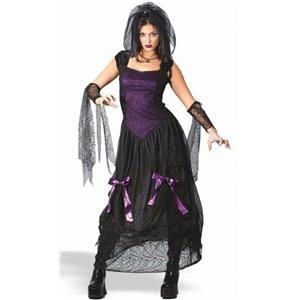 Goth Black Widow Spider Princess Teen Costume Juniors 0-9