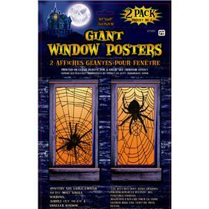 Giant Spiderweb Window Poster Halloween Decoration