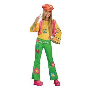 Tween Flower Power Girls Hippie Retro Costume Size Tween Medium 2-4