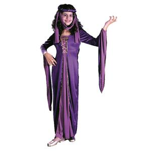 Purple Renaissance Princess Child Costume Size Small 4-6