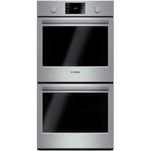 "Bosch 500 27"" 4.1 cu. ft. SS European Convection Electric Double Oven HBN5651UC"