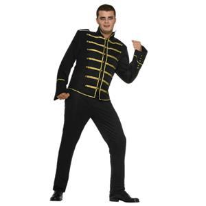 80's Pop King Michael Adult Costume Military Jacket