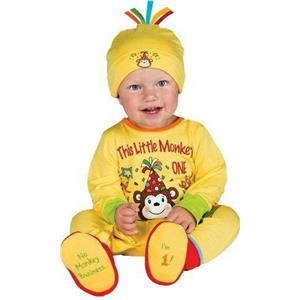 First Birthday Prince One-Piece Printed Jumper Hat & Booties Infant 6-12 months