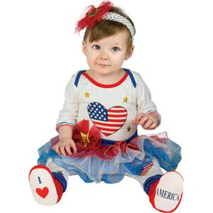 Lil Firecracker Patriotic Tutu Leggings Headband Booties Infant 6-12 months