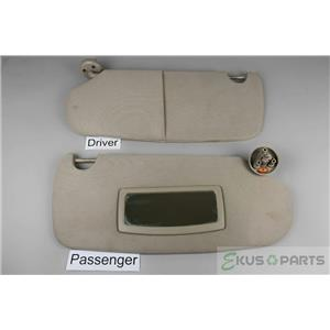 03-08 Dodge Ram 1500 2500 3500 Sun Visor Set with Passenger Mirror Adjust Bars