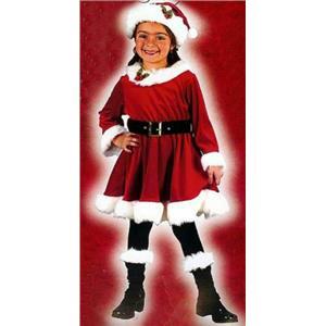 Little Miss Santa Toddler Child Christmas Costume Size 3T-4T
